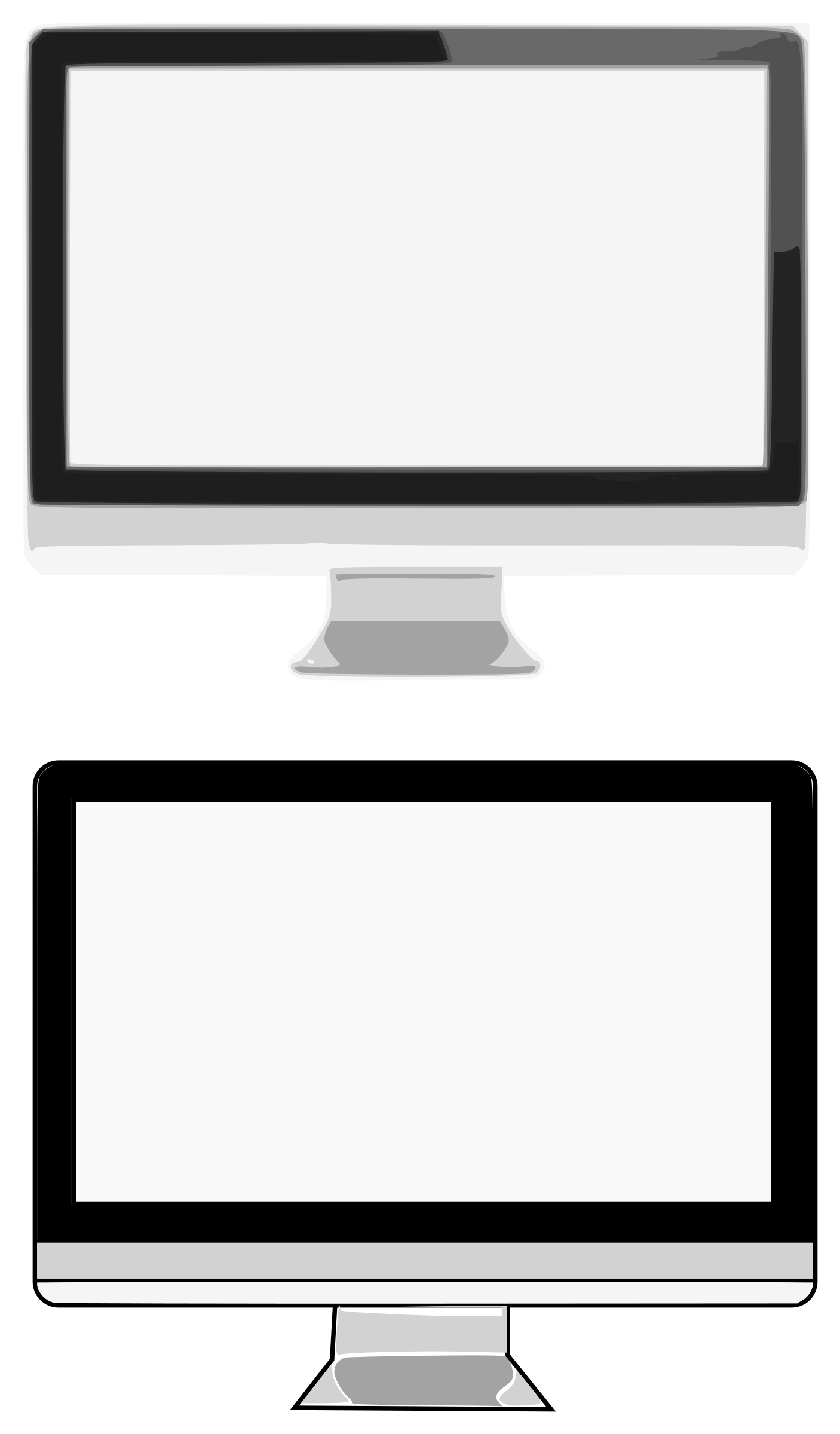 Monitors big image png. Office clipart monitor
