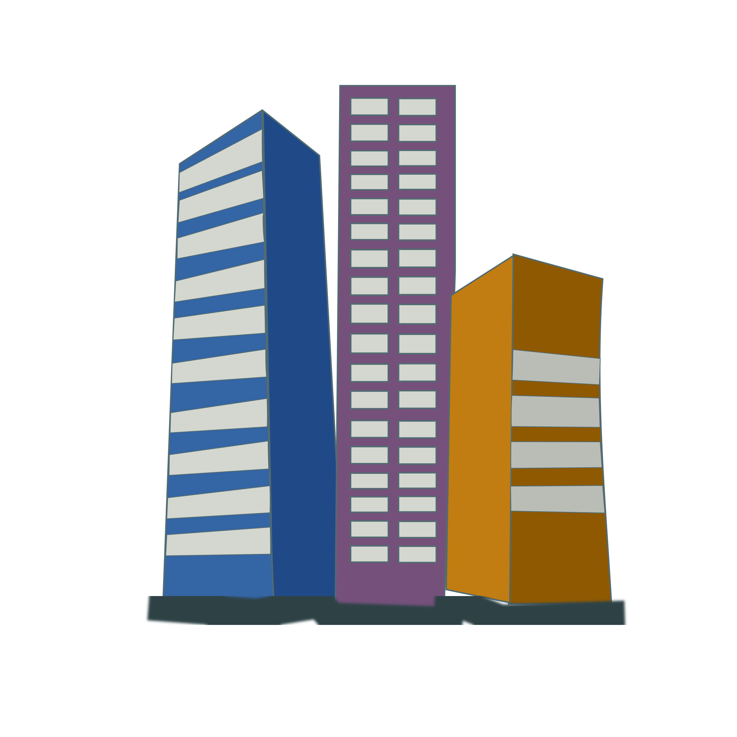 Real estate icon x. Office clipart office block