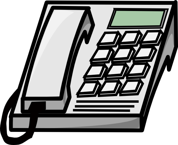 Clip art at clker. Telephone clipart office phone