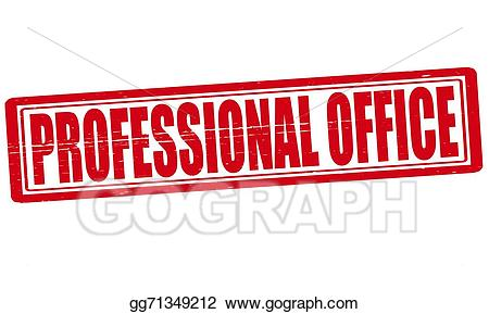 Office clipart professional office. Vector illustration stock clip