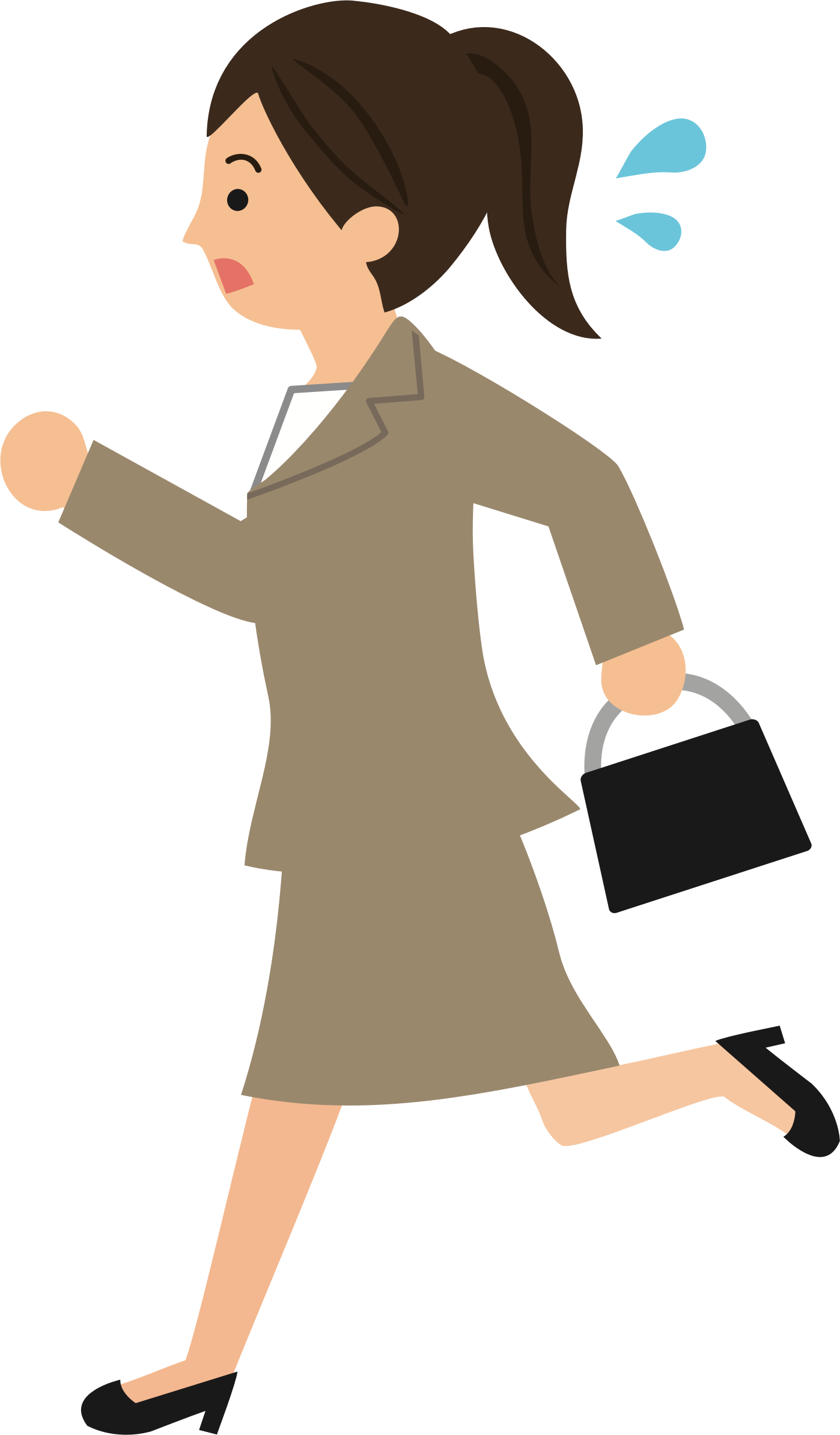 Working clipart secretary. Late for work big
