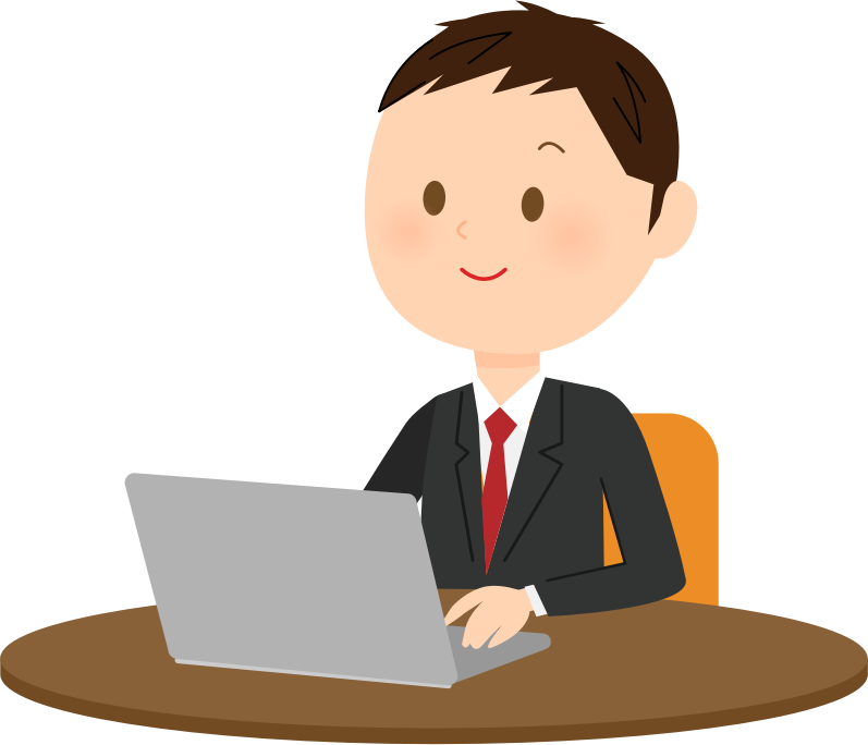 Working clipart secretary. Male computer user medium