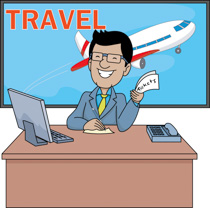 Traveling clipart travel agent. Free office trip download