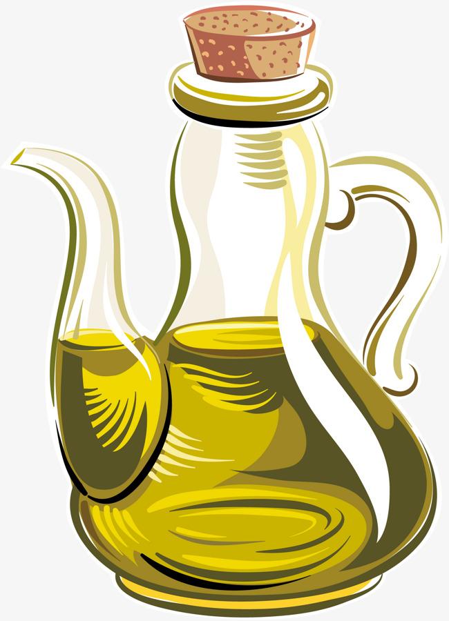 Cartoon vector pot olive. Oil clipart