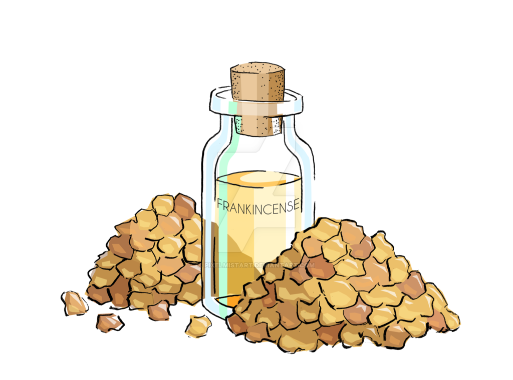 Frankincense essential by pixelmistart. Oil clipart aromatherapy