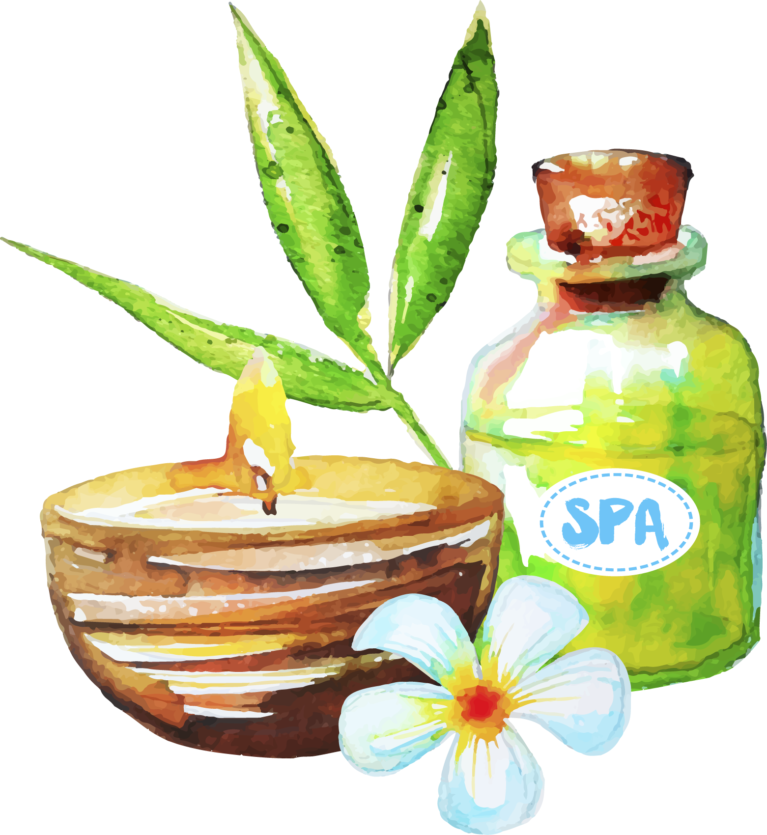 Spa essential drawing transprent. Oil clipart aromatherapy
