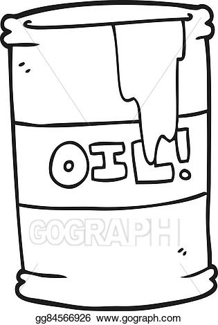 Oil clipart black and white. Vector cartoon drum