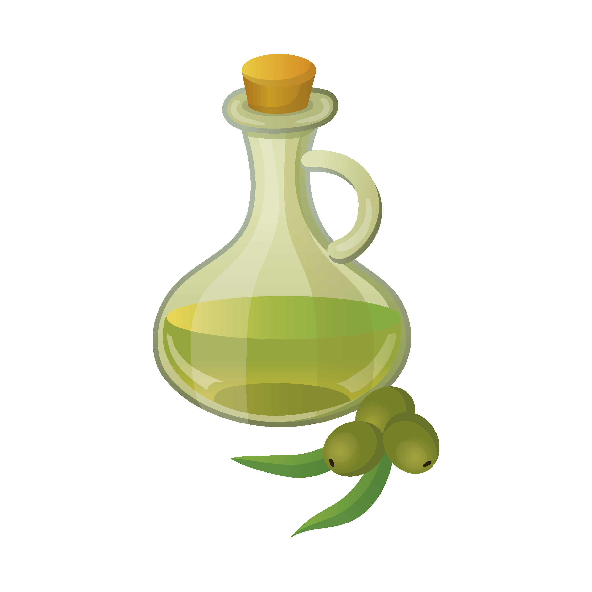Soybean glass bottle added. Oil clipart decanter