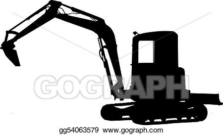 Drawing silhouette of a. Oil clipart digger