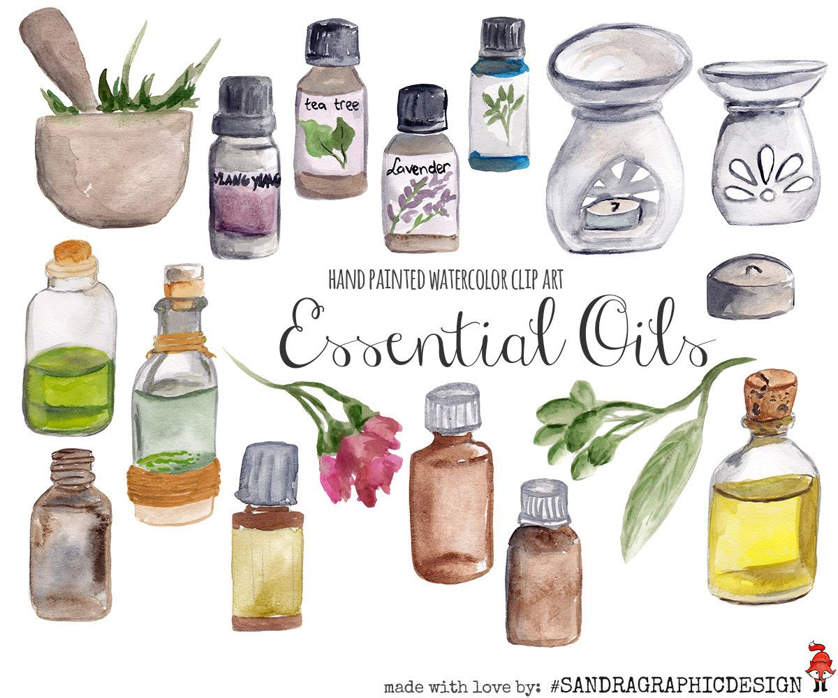 Oil clipart essential oil. New to sandragraphicdesign on