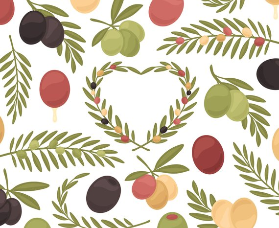 Olive fruit . Oil clipart mediterranean