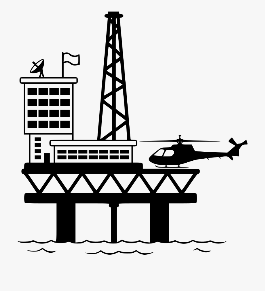 And gas platform icon. Oil clipart oil drilling