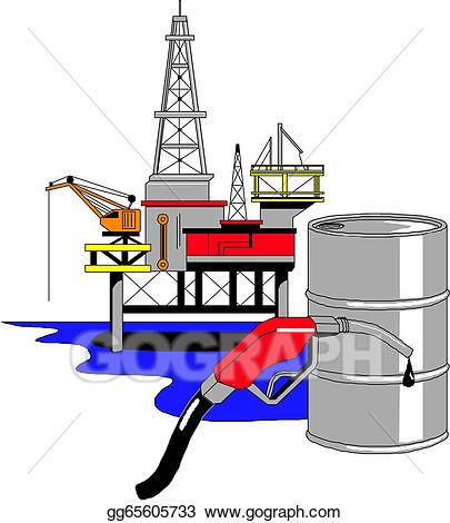 Oil clipart oil exploration. Vector drilling rig illustration