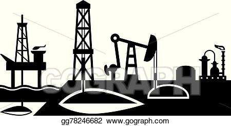 Vector and processing of. Oil clipart oil extraction