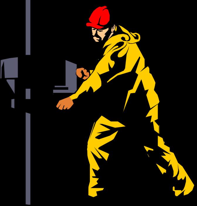 Rig derrick worker drills. Oil clipart oil platform