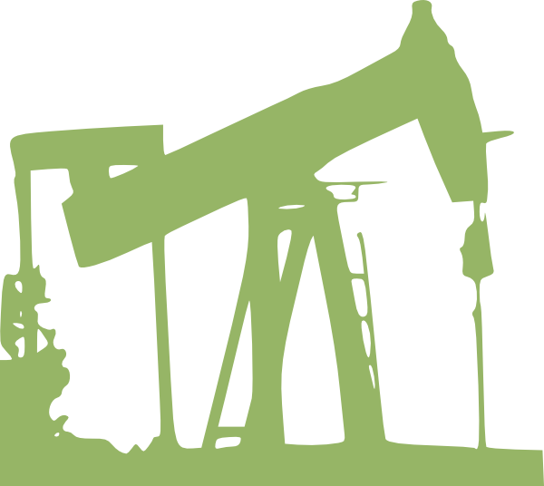 Green clip art at. Oil clipart oil well