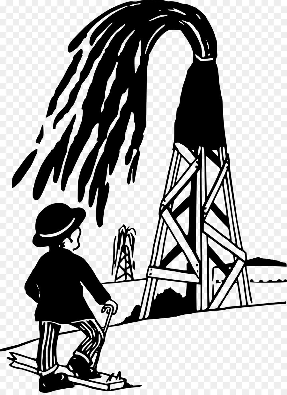 Background black cartoon art. Oil clipart oil well