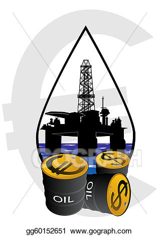 Drawing sale of products. Oil clipart petroleum product