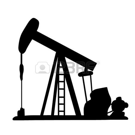 Oil clipart pumpjack. Stock vector for the