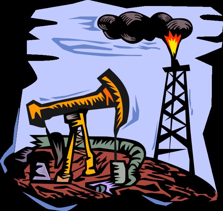 Well derrick and pump. Oil clipart pumpjack
