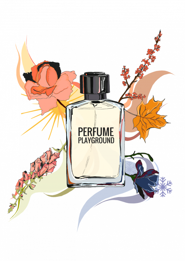 Four seasons playground club. Perfume clipart purfume