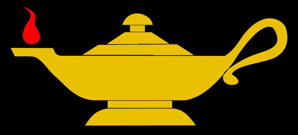 File lamps in heraldry. Oil clipart symbol