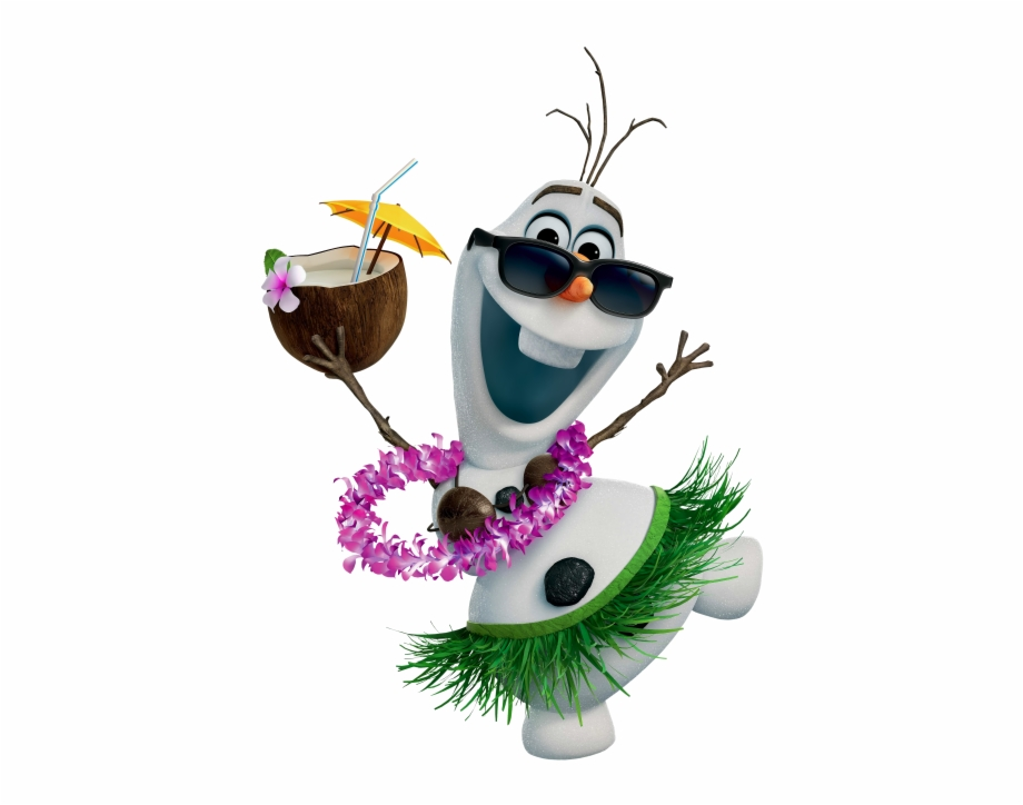 Olaf clipart beach. Hawaiian frozen clip art