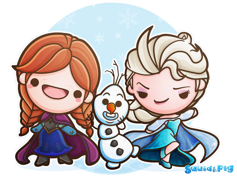 Television clipart kawaii. Frozen by squidpig on