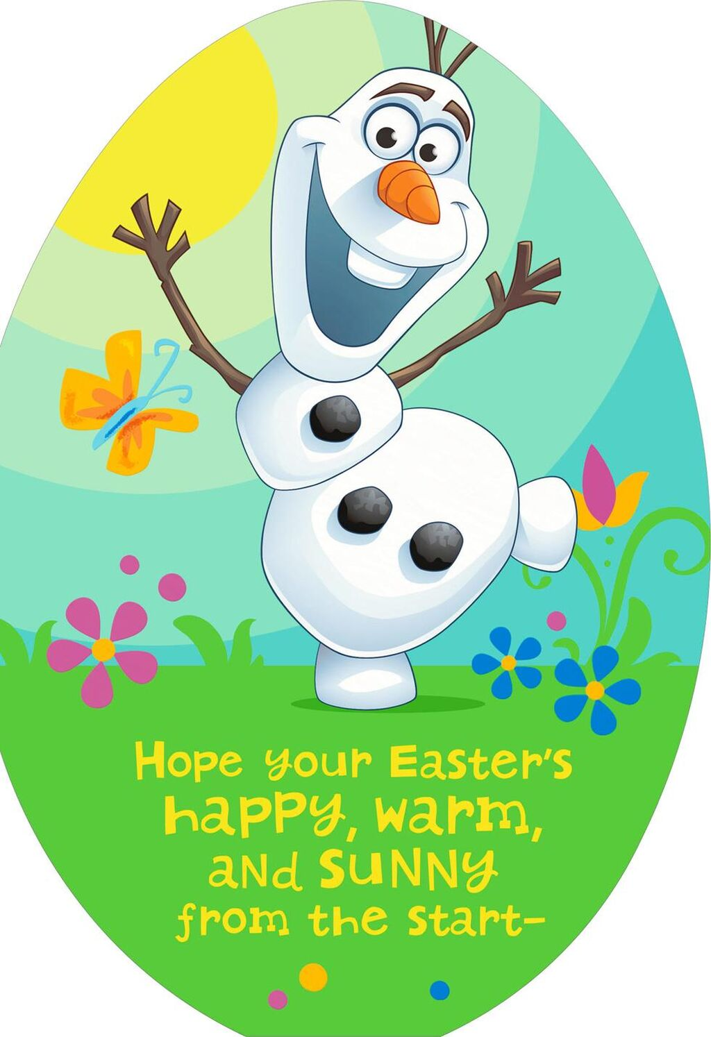 Olaf clipart easter. Frozen card for kid