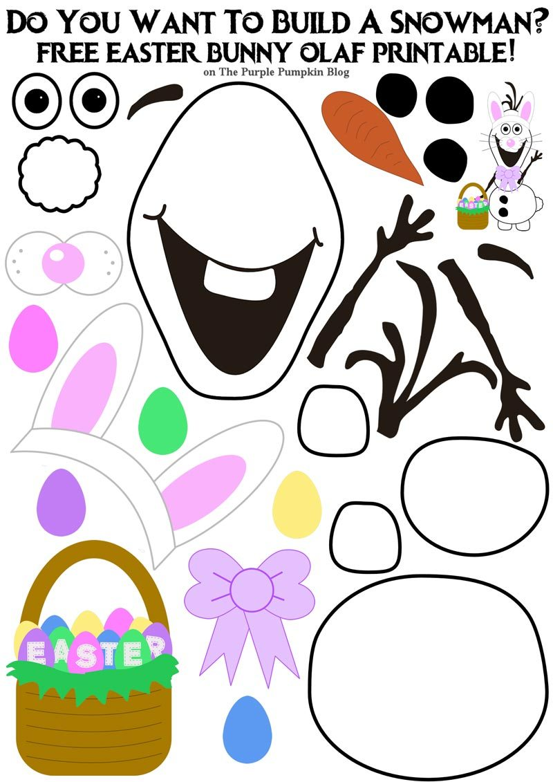 Do you want to. Olaf clipart easter