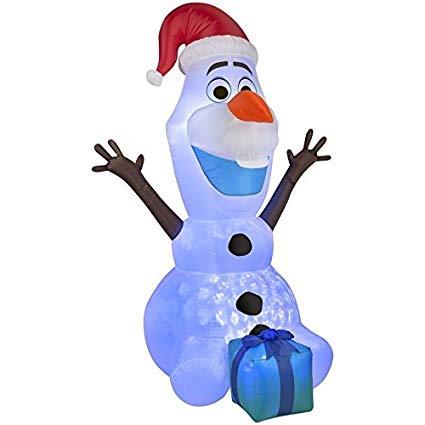 Olaf clipart holding. Amazon com gemmy airblown