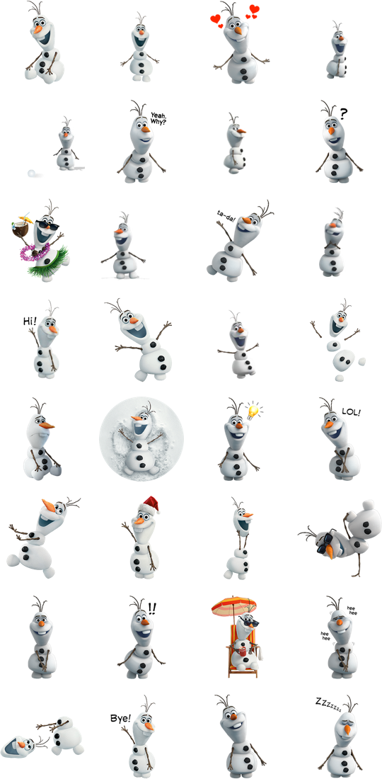 Olaf clipart olof. Facebook stickers sticker emoticons