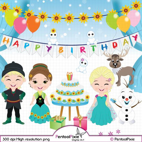 Frozen fever birthday princess. Olaf clipart party