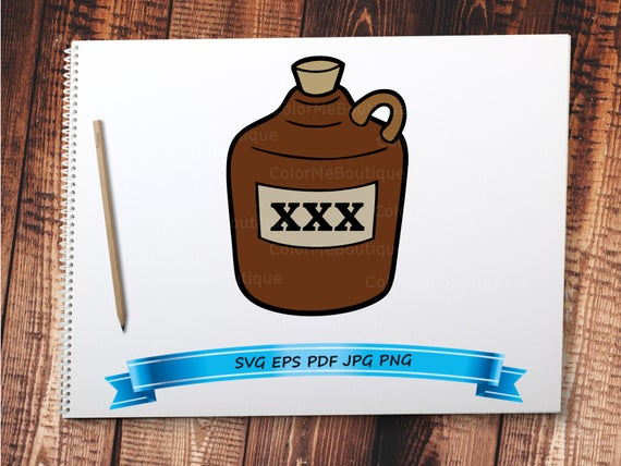 Olaf clipart pitcher. Whiskey jug