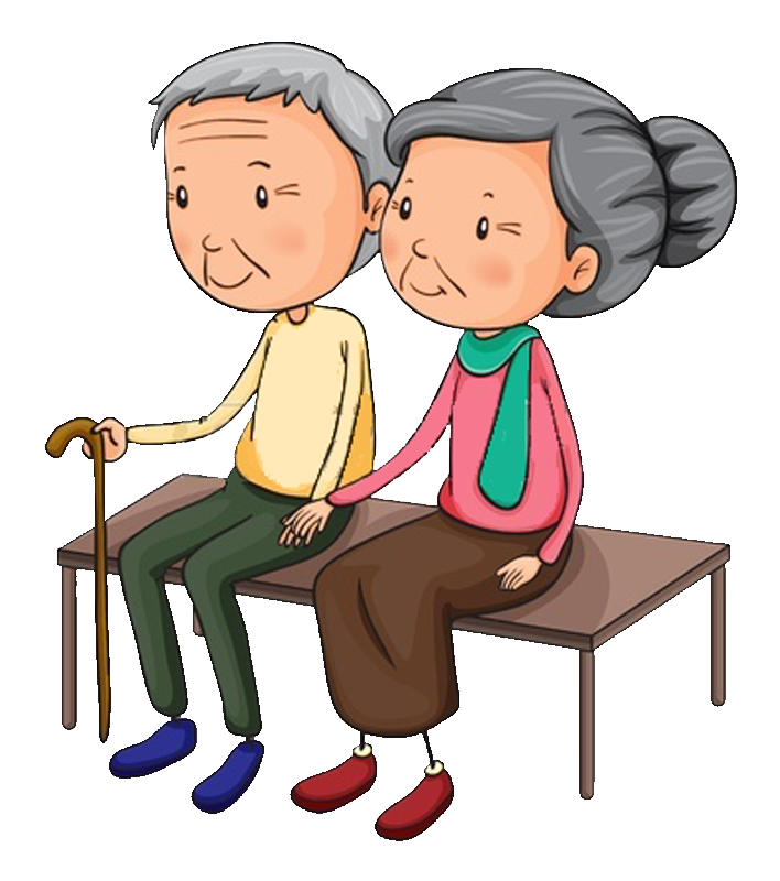 Late adulthood free on. Young clipart young old