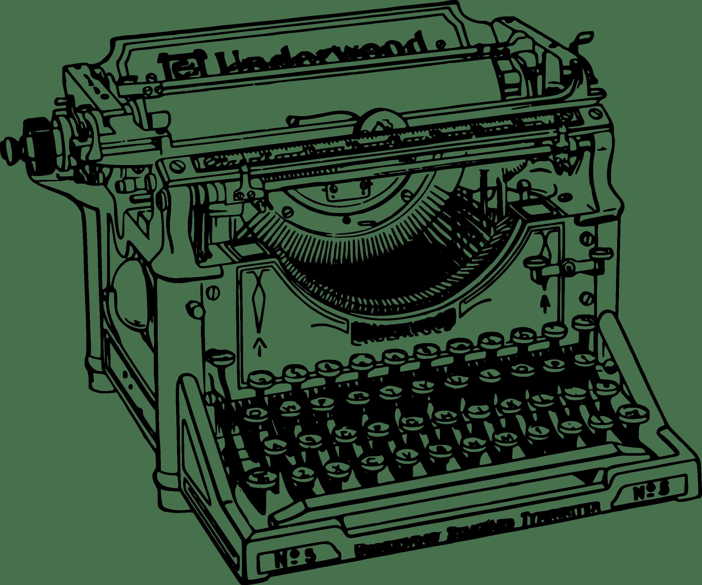 Writer clipart typing. Old typewriter transparent png