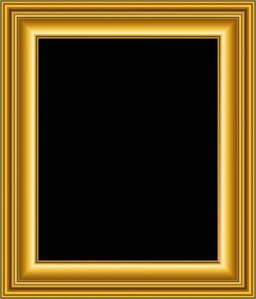 Gold transparent image gallery. Old frame png