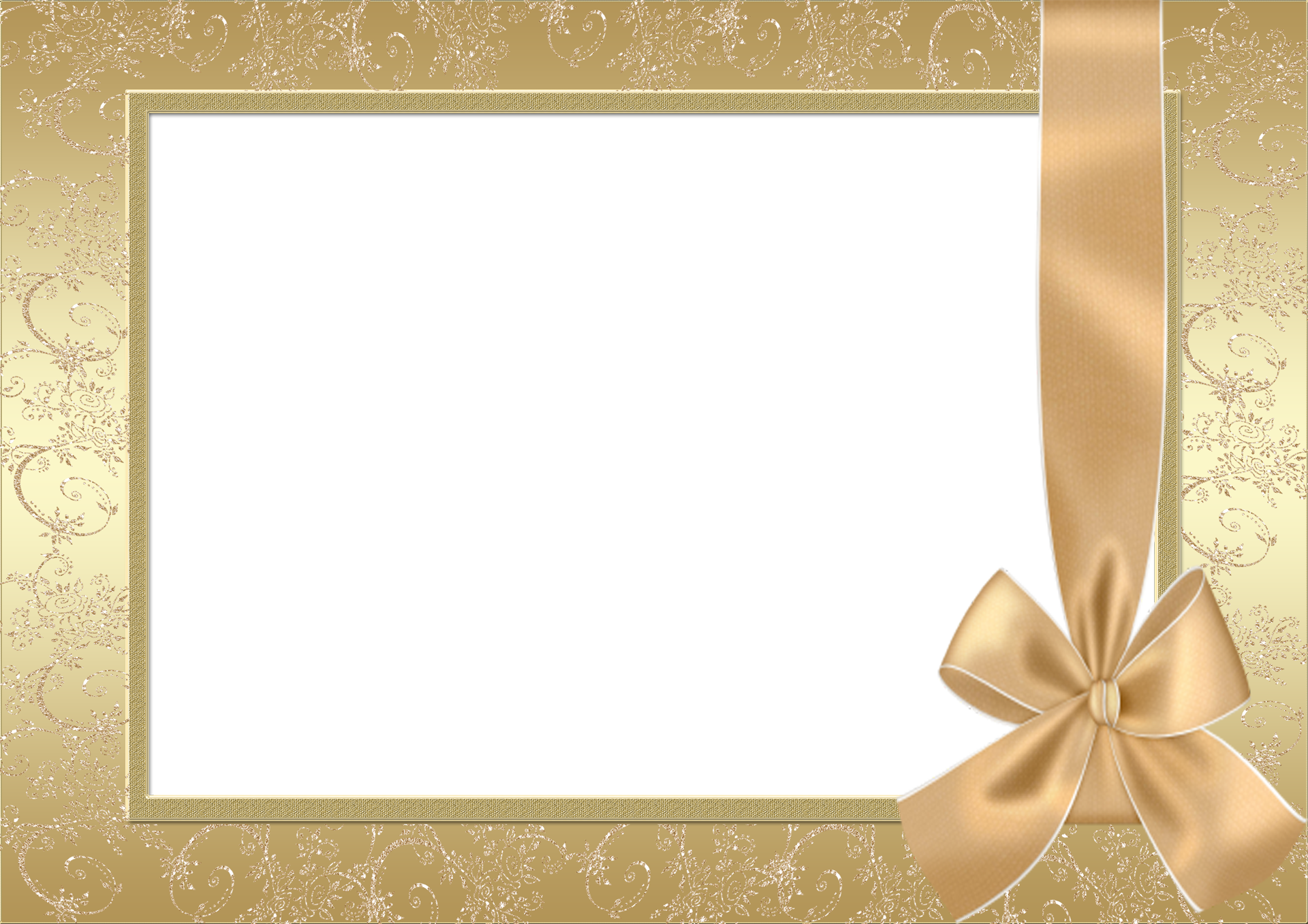 Large gold transparent with. Old frame png