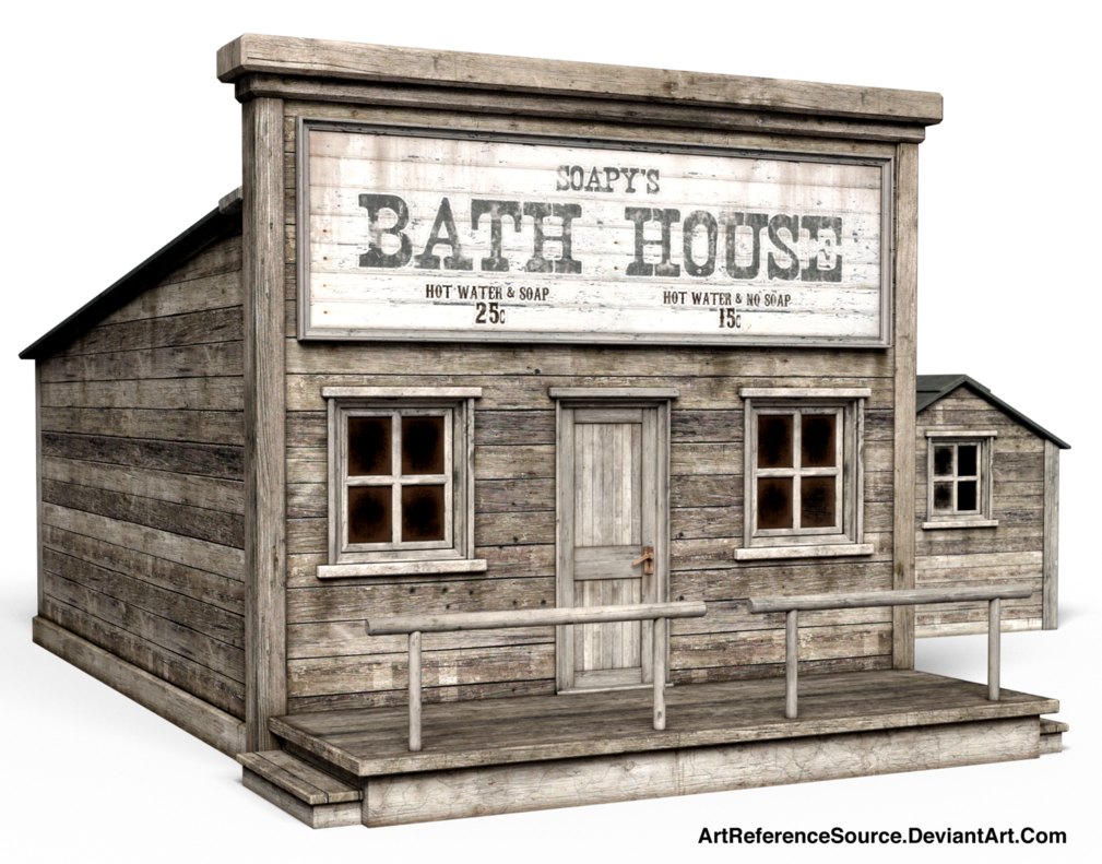 Free stock western bath. Old house png