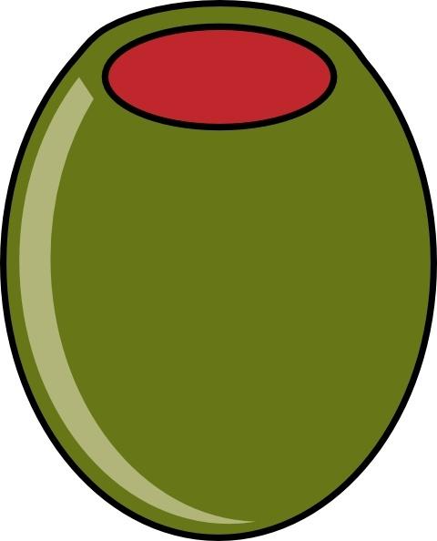 Olive clipart vector. Green clip art free