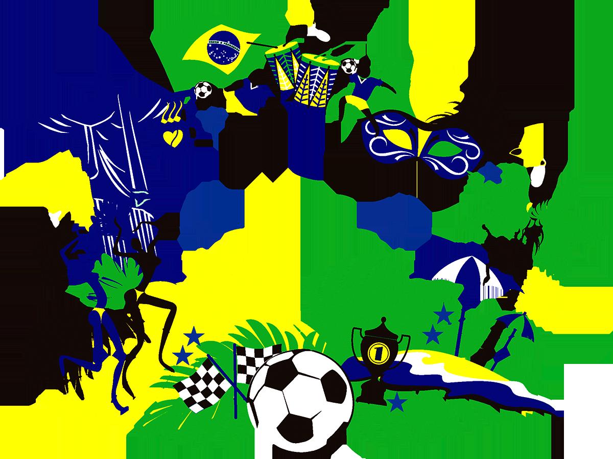 Brazil fifa world cup. Olympics clipart border