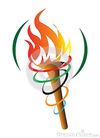 Olympics clipart olympics flame. Olympic symbol torch stock