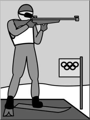 Olympic clipart olympic shooting. Clip art winter olympics