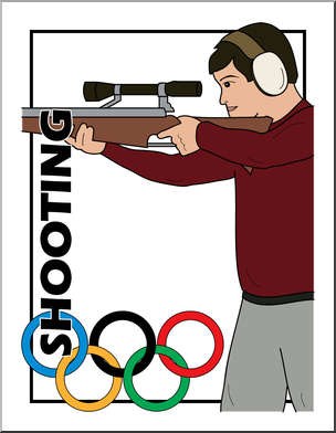 Clip art summer olympics. Olympic clipart olympic shooting