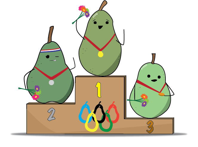 Pear critique up for. Podium clipart olympics