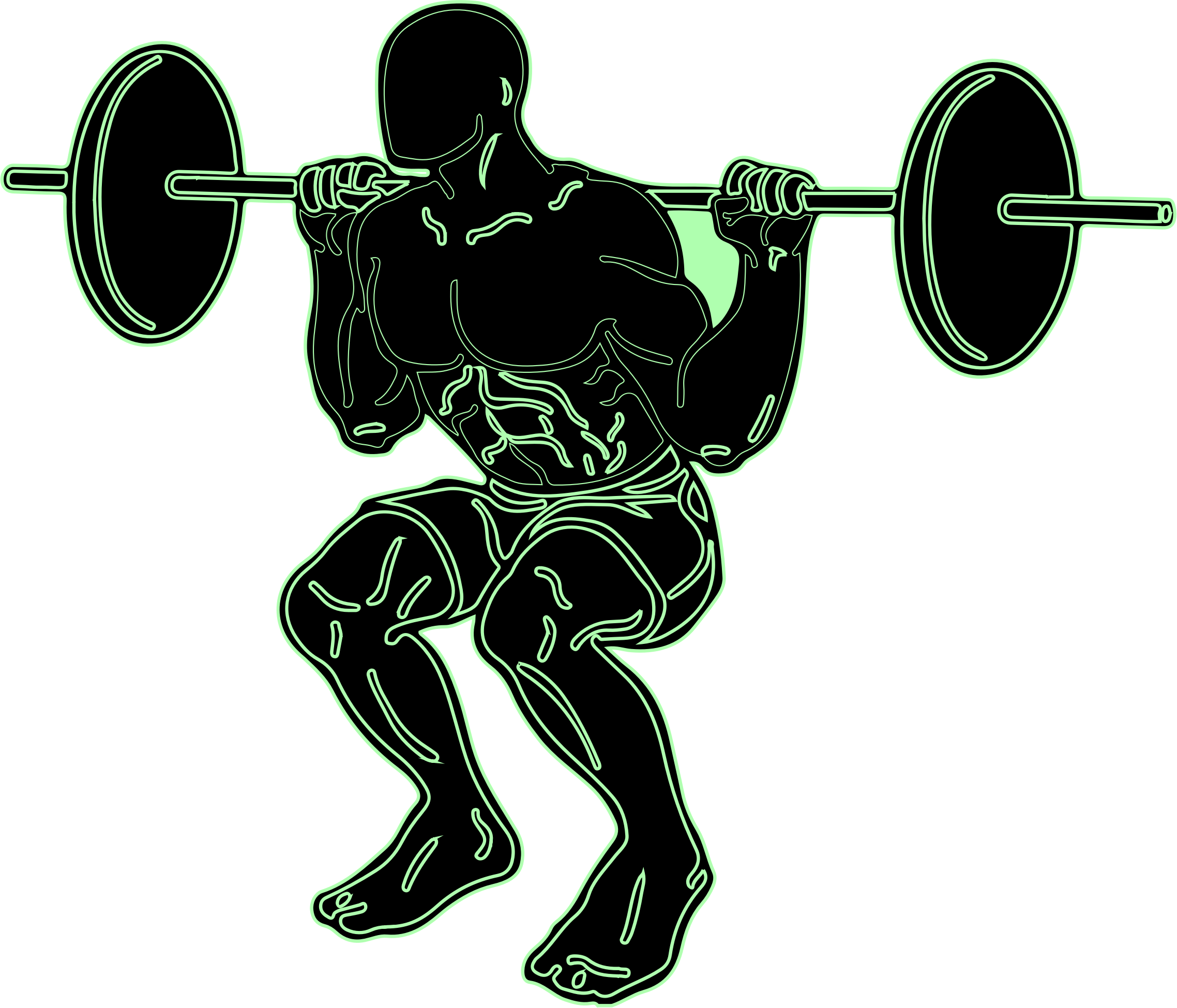 Weight clipart olympic barbell. Weightlifting squat training clip