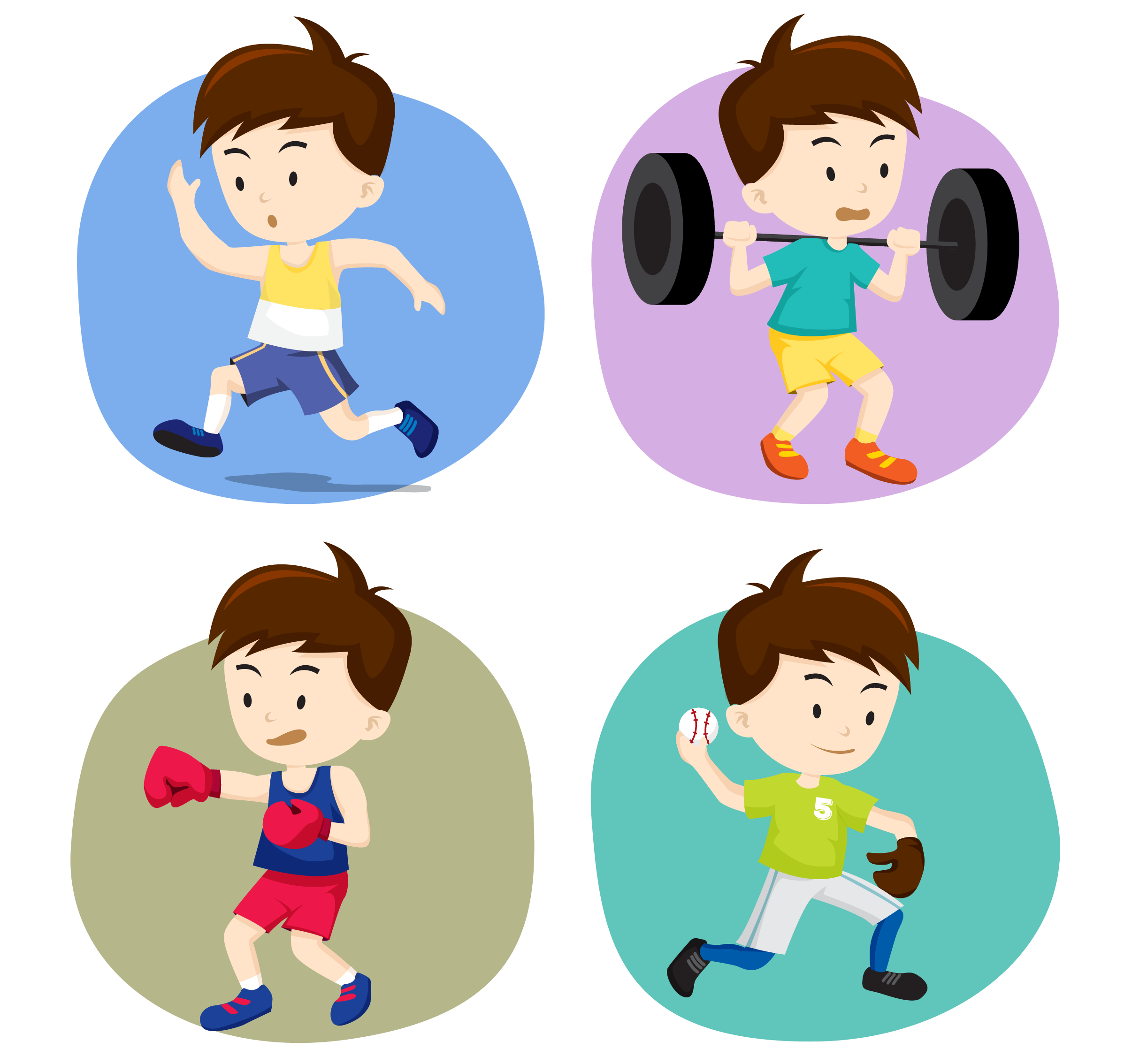 Olympic clipart sport person. Games cartoon illustration cute