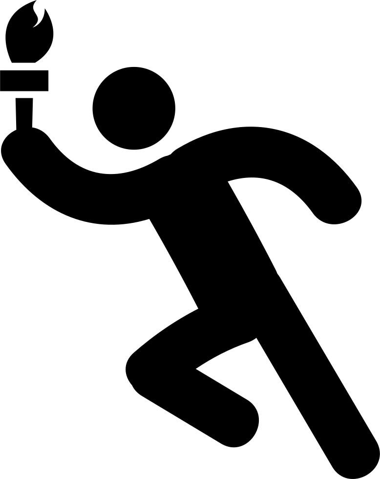 Torch clipart runner olympic. Man running with svg