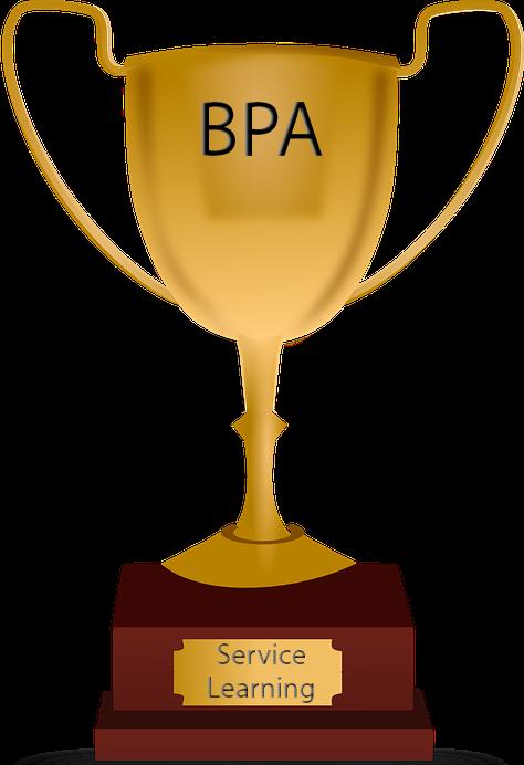 Olympics clipart trophy. Bpa cares awards activities