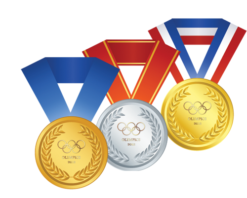 Olympics clipart gold medalist. Olympic medals